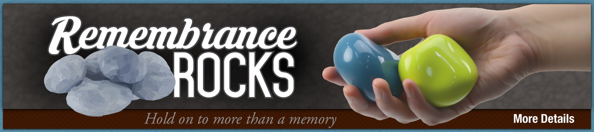 Remembrance rocks banner